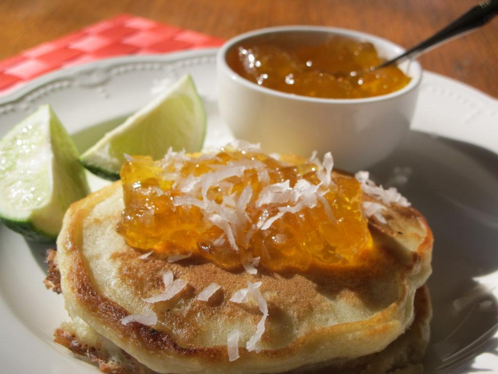 Coconut Pancakes with Mango Lime Jelly as the Topping - Farm to Jar ...