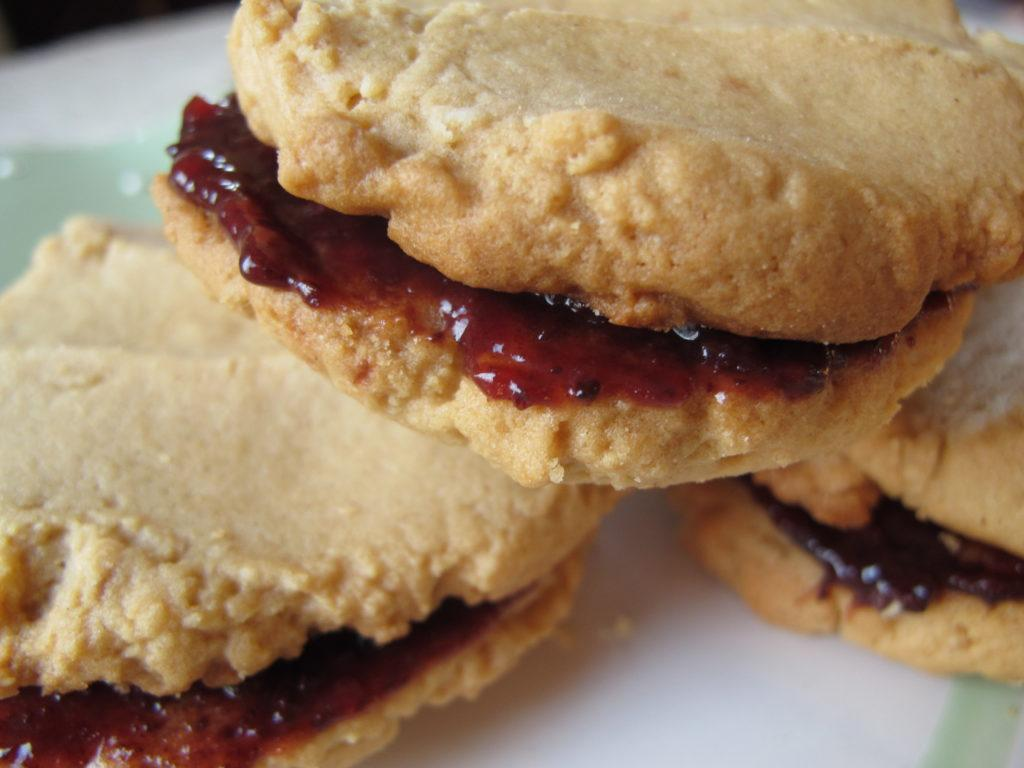 Best Peanut Butter Cookies with Raspberry Chambord Jam Filling - Farm ...