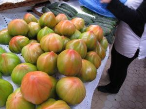 IMG 2274 tomatoes in mercado central 300x225 Spain, Valencia inland to Teurel:  Lessons Learned and Food Enjoyed   Day 3