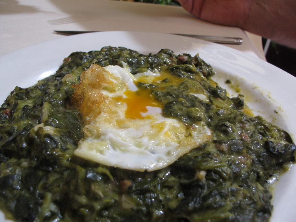 IMG 2325 spinach egg Alagon 1024x768 Spain, Zaragoza to Bilbao: Lessons Learned and Food Enjoyed   Day 4