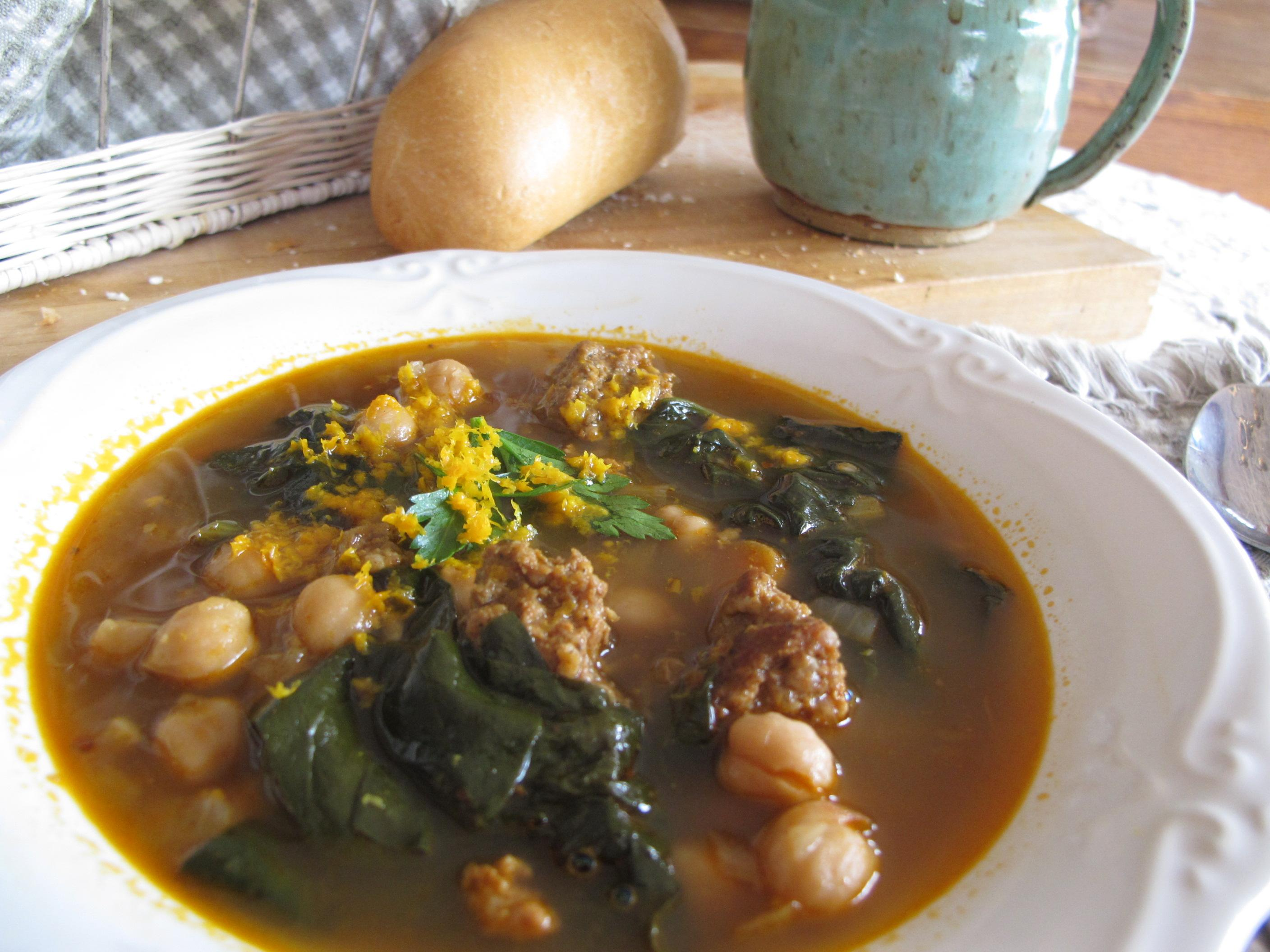 Spain-Soups Reconstructed Spanish Garbanzo Bean & Spinach Soup