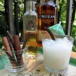 Rum Horchata craft cocktail with ingredients
