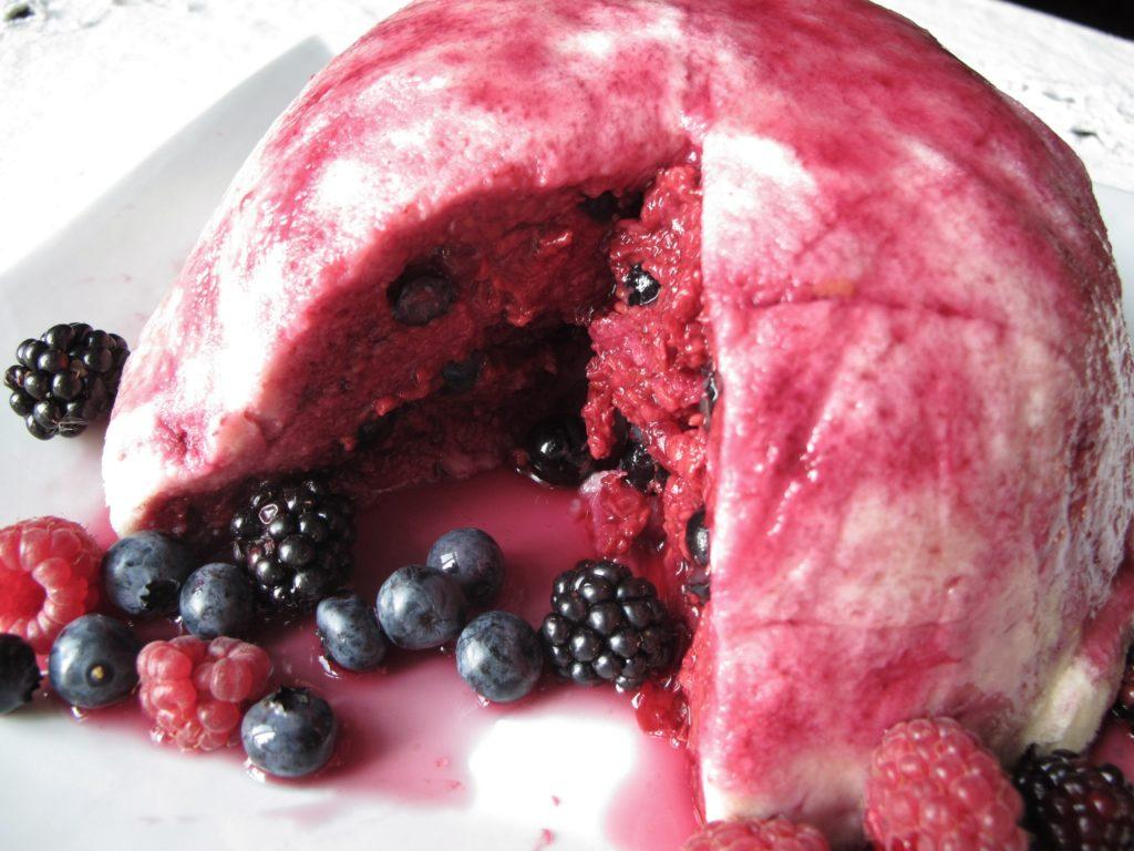 English Summer Pudding (with Blueberry Lavender Syrup)