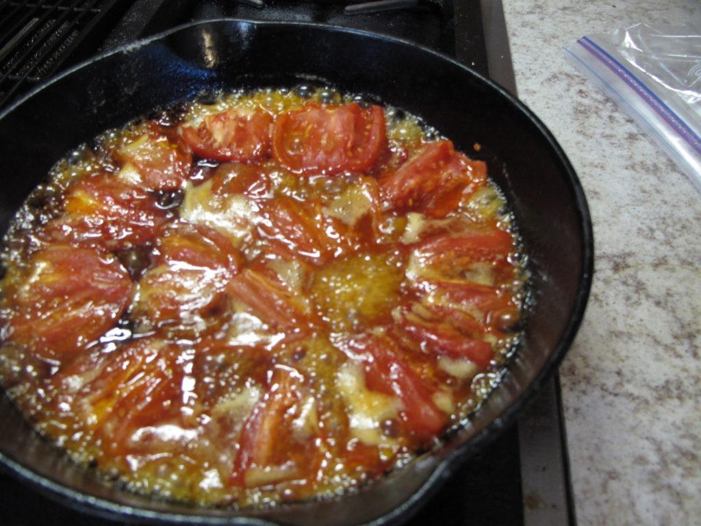 Caramelizing Tomatoes