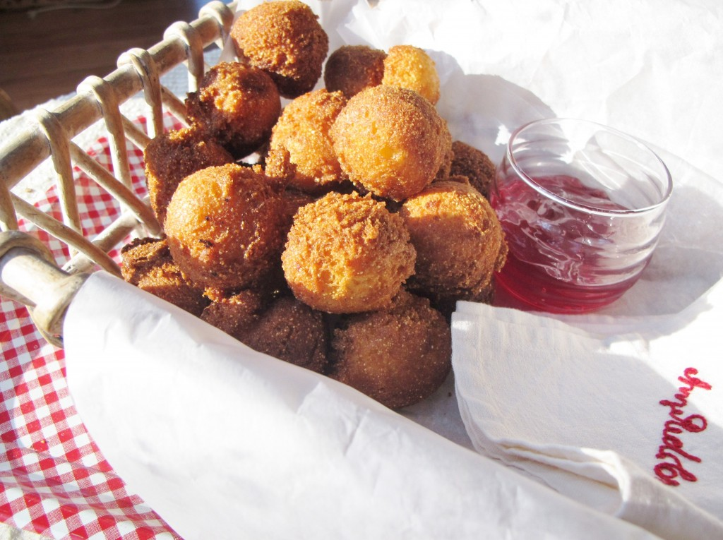 Southern hushpuppies with Raspberry Habanero Jelly (Stainbrook)
