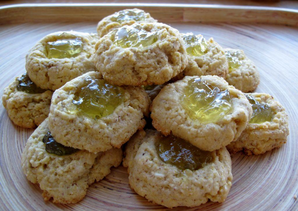 Polenta Thumbprint Cookies with Lime Marmalade Filling