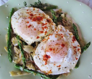 IMG 4966 300x256 Asparagus & Eggs on Spiced Artichoke Bed: Slow Carb Diet (4 Hr Body Diet)