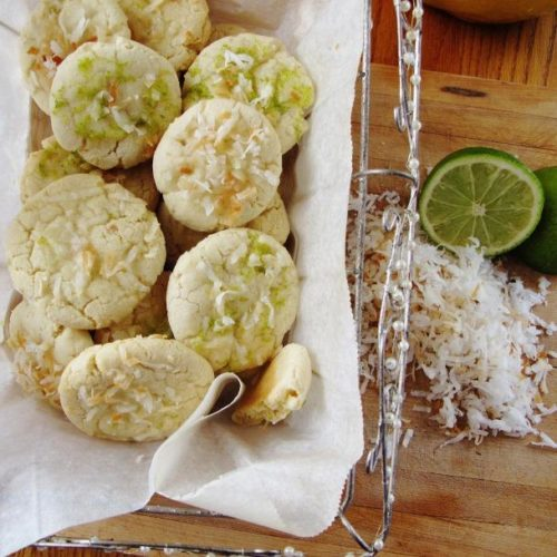 Coconut Cookies with Citrus Icing