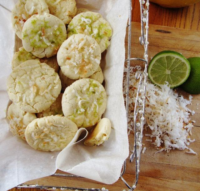 Coconut Cookies with Marmalade Icing