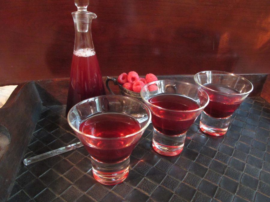Craft Cocktails - Martinis made with Raspberry Vanilla Shrub Syrup