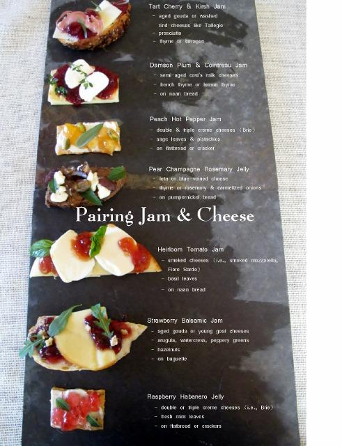 Photo array of cheese and jam pairing ideas for a cheese board