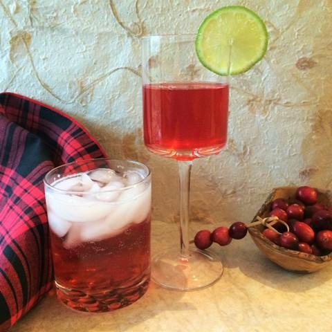 Cranberry Drinks made with Shrub Syrups