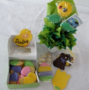 Easter basket from Cookie Temptations