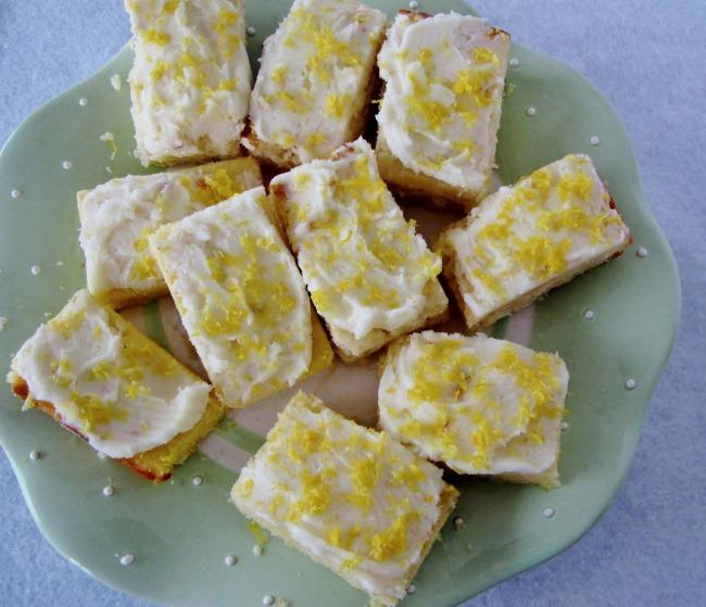 Lemonade and Limoncello Blondies