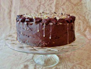 Side view of German Chocolate Cake