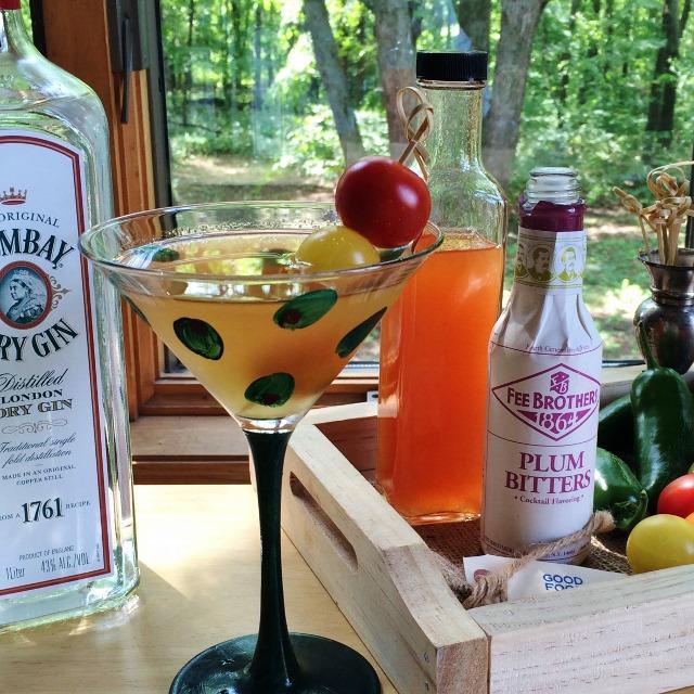 Smoked Tomato Shrub Martini