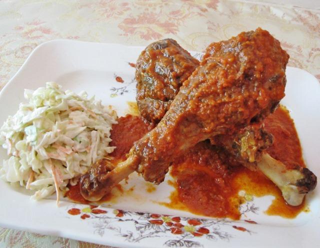 Slow Carb BBQ Turkey Legs