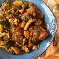 Low carb Moroccan stew with chicken thighs