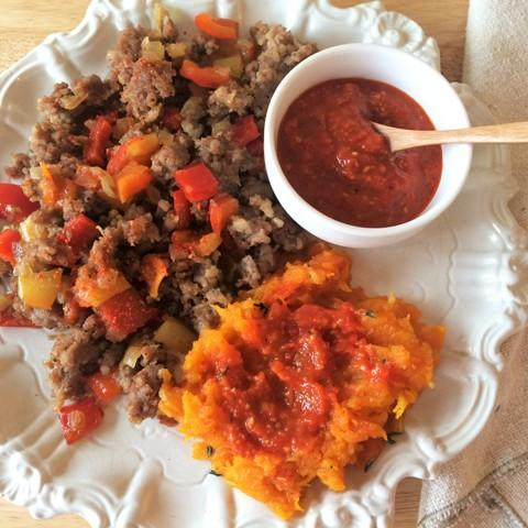 Low Carb Romesco Sauce with Butternut Squash