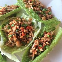 Lettuce wrap with Asian chicken filling
