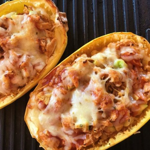 low carb stuffed spaghetti squash