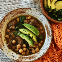 Slow carb posole with garbanzo beans