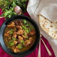 Bowl of pork chile verde