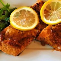 Low carb Mexican salmon cooked on Griddler