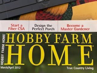 Cover for the Hobby Farm Home magazine