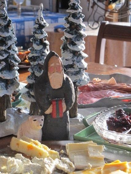 Example of a Christmas cheese board